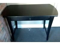 Solid pine painted console side table desk