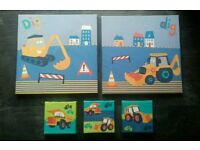 Digger/construction Canvases