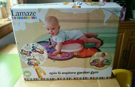 Tummy Time spin and explore garden gym.