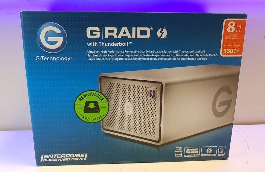 be179bf2274 **G-RAID GRAID G-TECHNOLOGY 8TB HARD DRIVE - THUNDERBOLT USB3 RAID 0G04086  - APPLE MAC PC WINDOWS**