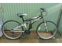 "Mens 26"" Dunlop dual suspension mountain bike"