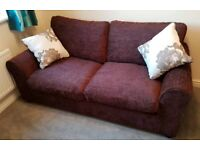 Tessa 2 seater fabric sofa bed chocolate brown