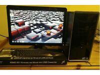 """Dell Inspiron 560 Desktop Computer PC & Dell 21"""""""
