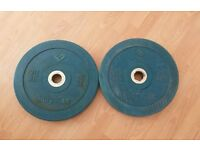 Pair 20kg Olympic Rubber Bumper Plates - Body Max, Weightlifting, Crossfit