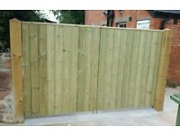 Made to measure softwood gates and fencing