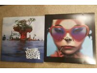 Gorillaz signed records - humanz and plastic beach