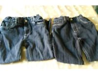 Two pairs of tu black jeans 6-7 years old