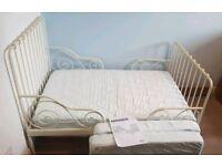 Ikea Extendable Minnen Bed & Mattress