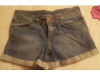 Ladies Joules denim shorts size 8