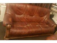 Free Brown Leather Sofas 3 Seater Plus 2 Seater