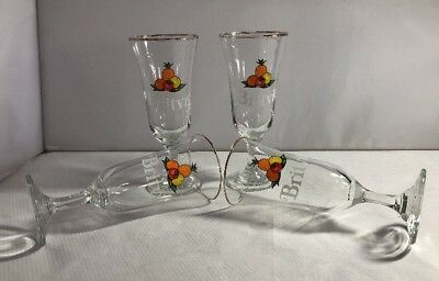 Vintage Retro Set of 4 Britvic Fruit Juice Glasses Cocktail Pub Bar BBQ Fun
