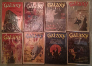 Galaxy Science Fiction: Complete Year Set 1971 8 issues