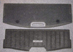 2014 to 2017 Nissan Rogue Floor pan cover with embroidered mat