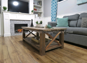Rustic Coffee Table - new (breadboard top)(pine)