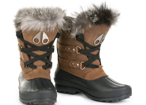 Moose knuckles Fox fur boots size 8