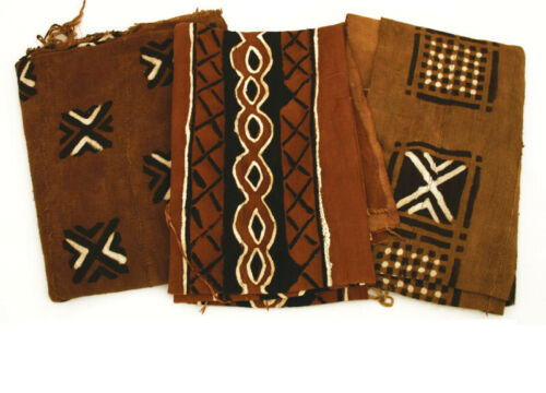 """Rust Red/Brown Mudcloth Mud Cloth Fabric BogalonFini From Mali 45""""x60"""""""