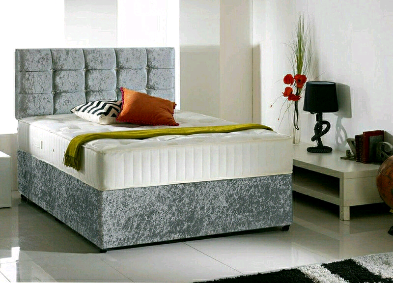 Brand New 4 6 Ft Double Crushed Velvet Bed And Headboard In Glasgow City Centre Glasgow Gumtree