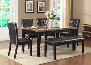 DINING TABLE SET FROM ONLY $799 -TABLE + 4 CHAIRS +BENCH