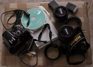 Nikon  D5100 16.2 MP Digital SLR Camera with 2 lenses Hoxton Park Liverpool Area Preview