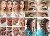 CILS, ONGLES, MAQUILLAGE & COIFFURE à Domicile! ABORDABLE
