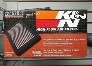 K & N Washable/Reusable Stock Replacement Air Filter for Yamaha