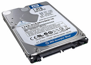 Used 1.0TB WD Hard Drive for Laptop