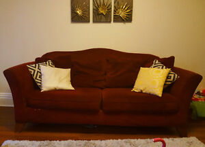 Large full couch matching love seat