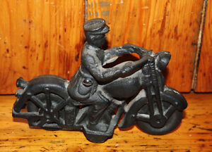 Cast iron motorcycle toy
