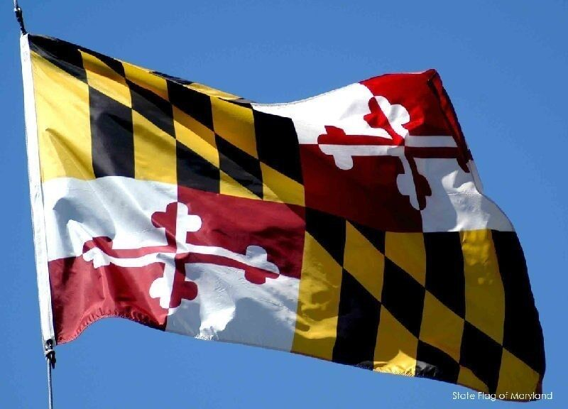 NEW 2x3 ft MARYLAND STATE OF FLAG