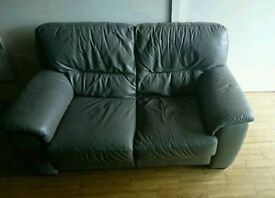 Grey Leather Sofa for Sale