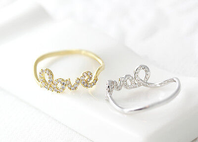 1piece Love Letters Ring Women's Infinite Love Ring Best Friend Lovely Gift (Best Friend Letter Ideas)