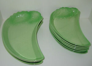 Carlton Ware CURLED LETTUCE pattern Crescent Dish by Carltonware