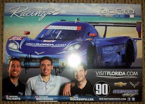 VisitFlordia.com Autographed Racing Poster