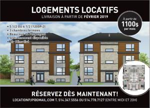 Construction neuve Mtl! , Grand 6 1-2 de 3 chambres