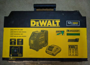 New DeWALT DW088LG 12V MAX Green Cross Line Laser