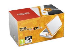 Nintendo new 2DSXL white and orange$159