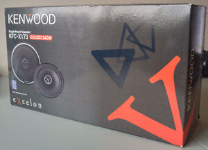"""Kenwood KFC-X173 6.5"""" Car Speakers System (Like-New Condition)"""