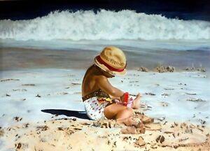 """Tableau """"À la plage"""""""