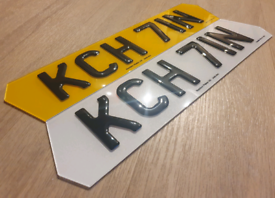 Lambo Style Hex shaped 3D gel/4D Car Number Plates