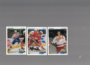Set Upper Deck high numbers 1990-91 hockey cards sceller