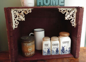 Painted Rustic Antique Crate Shelf