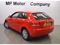 2007 07 AUDI A3 1.6 SPECIAL EDITION 8V 3D 102 BHP HATCH, RED, 65-000M MOST SH,