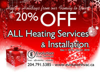 Furnaces, central air , ventilation ,HRV, service & repair