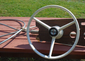 Boat steering wheel and components....