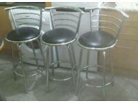 3 X Kitchen Breakfast Bar stools