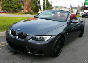 BMW 335i hardtop convertible - RED interior