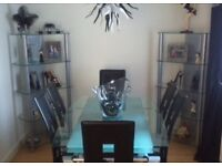 2x Glass Display Stands
