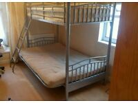 Metal Triple Bunk Bed