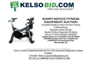 VISION 24HOUR FITNESS CLUB SHORT NOTICE LIQUIDATION AUCTION