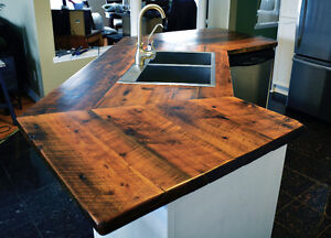 Custom Reclaimed Wood & Live Edge Countertops